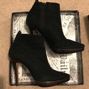 Boutique 9 suede black heel bootie